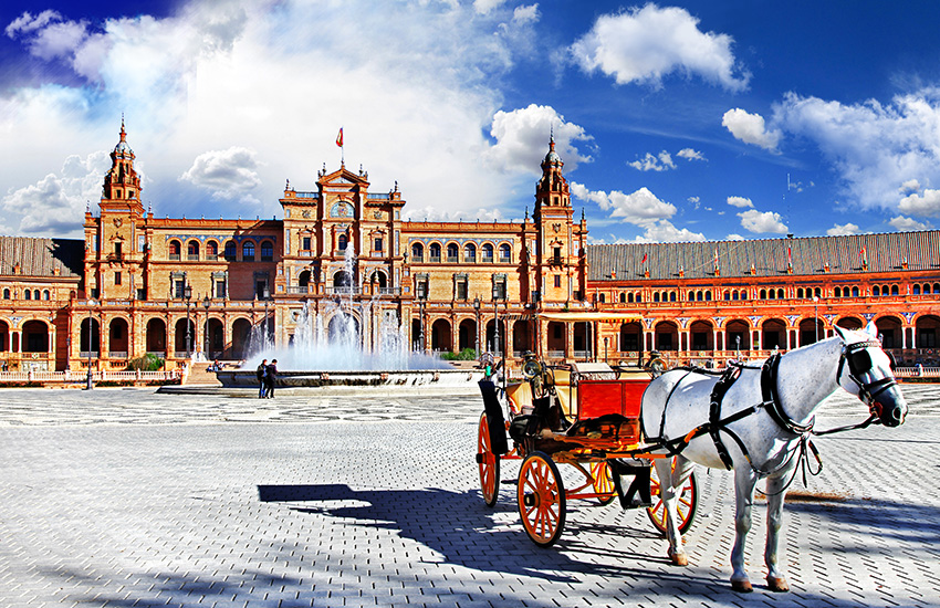 Visit Seville in Spain by motorhome