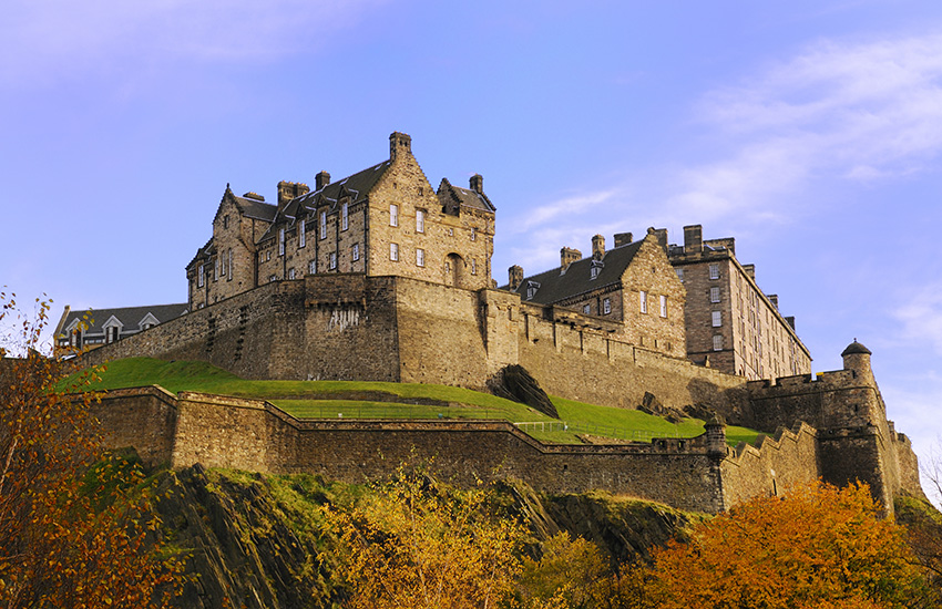 Edinburgh Castle is a must see on your motorhome tour of Scotland