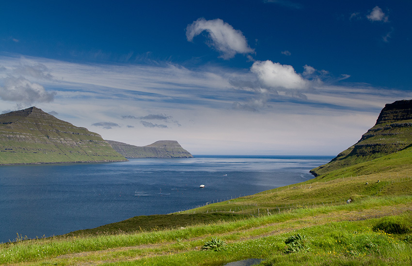 The Faroe Islands in Denmark