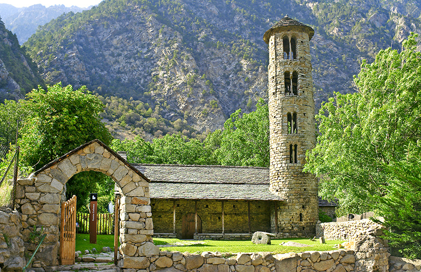 Visit the church at Santa Coloma in Andorra on your motorhome holiday