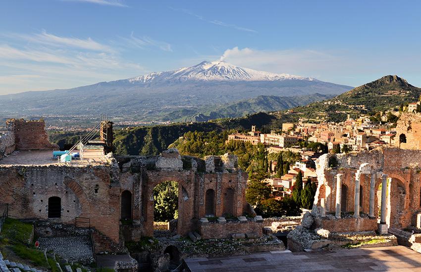 Taormina in Italy