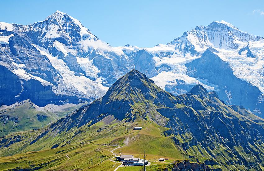 The Alps in Switzerland