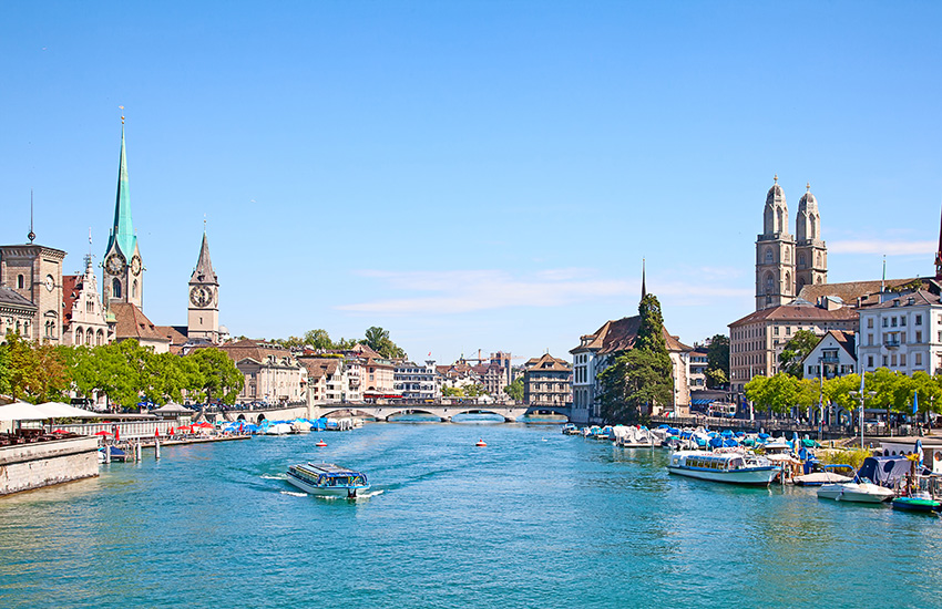 Visit Zurich on your motorhome holiday around Switzerland