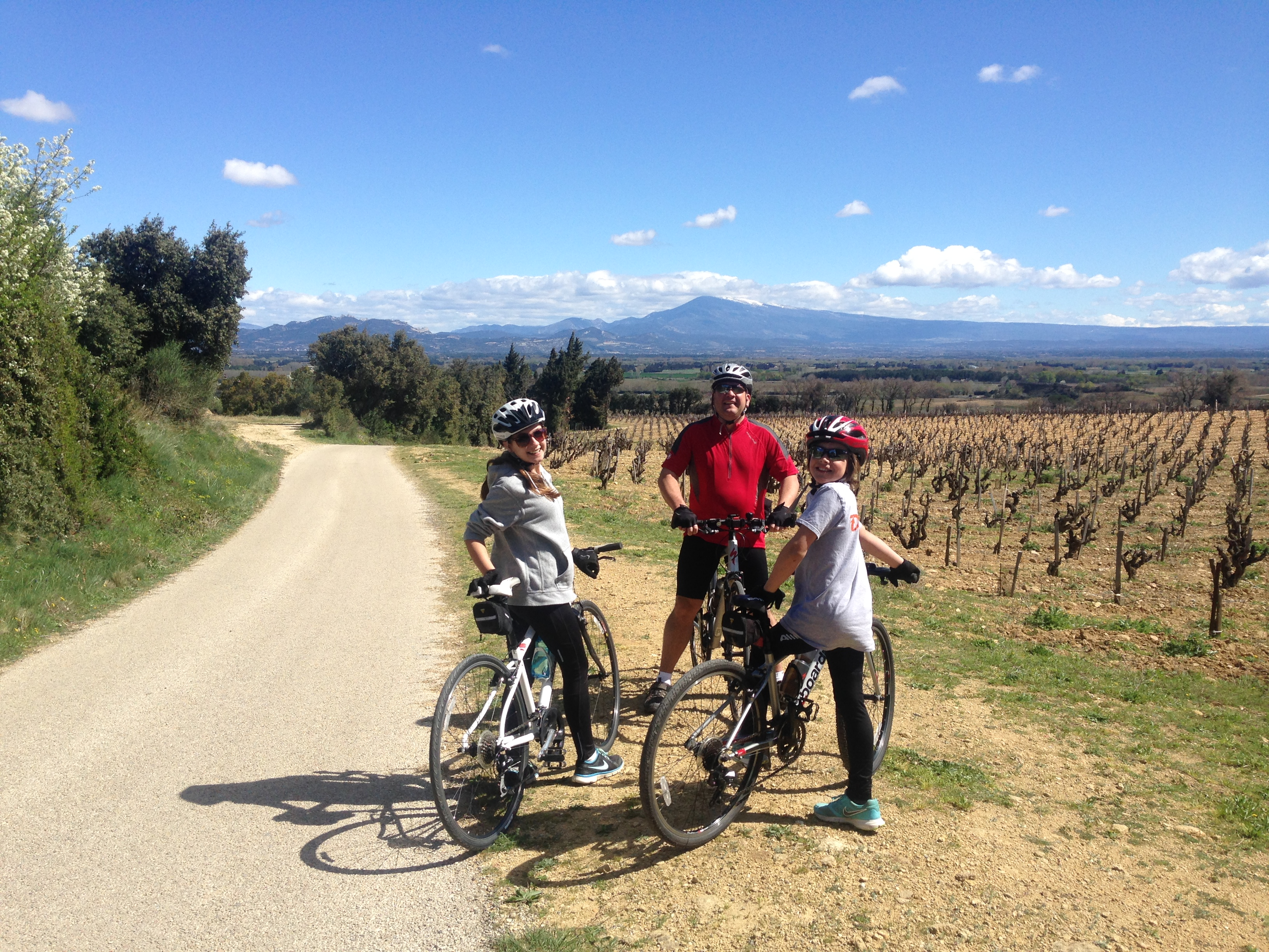 cycle ride to and from Chateauneuf Du Pape