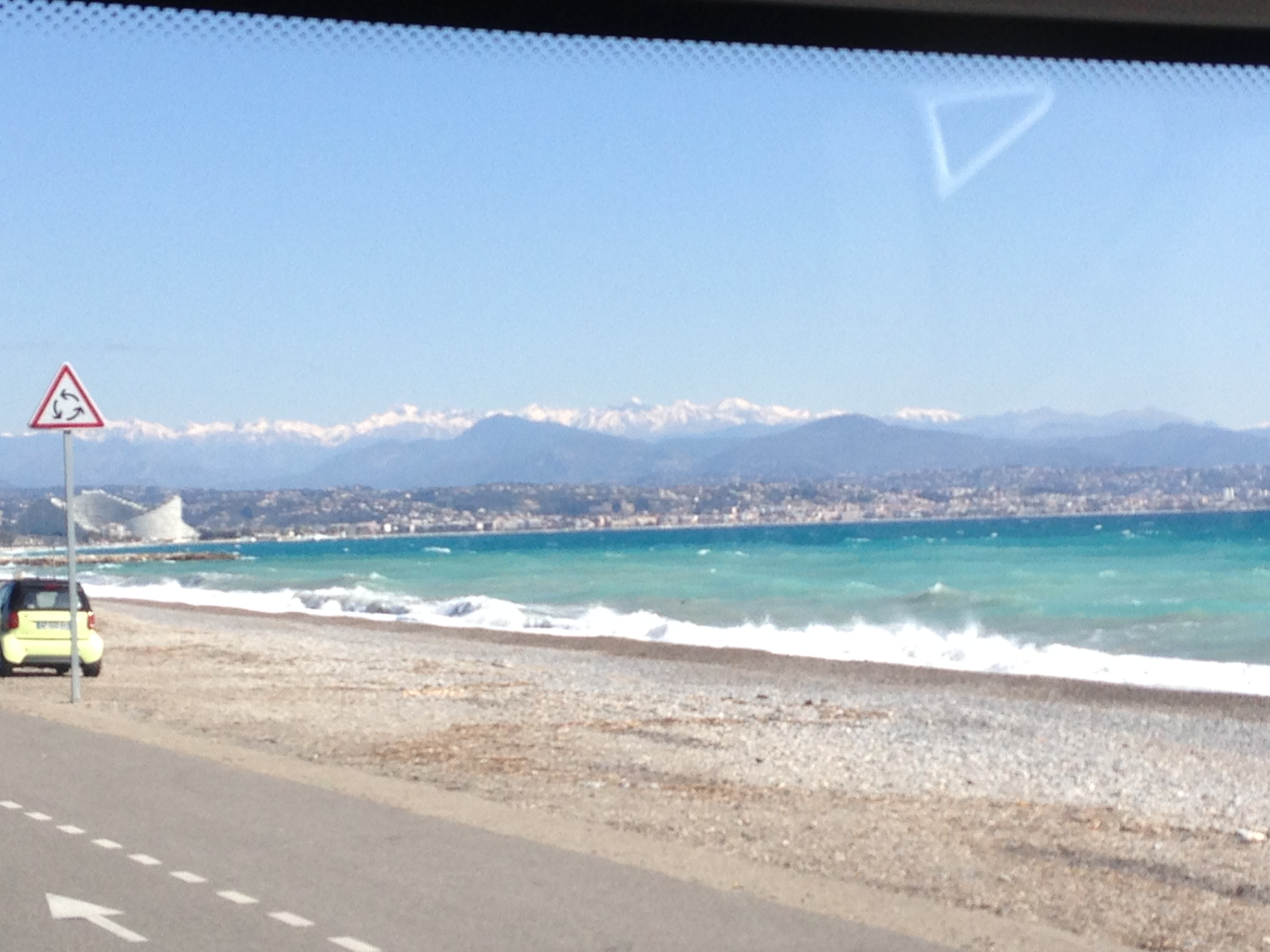We found a lovely site a bus journey away from Nice