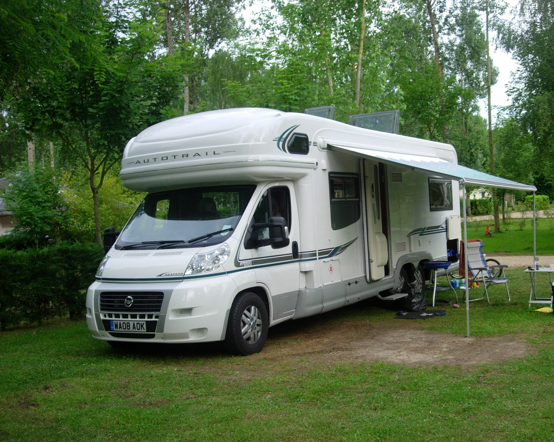 Campsites are all booked for you on your journey by us
