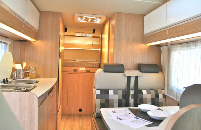 A peak inside one of our motorhomes