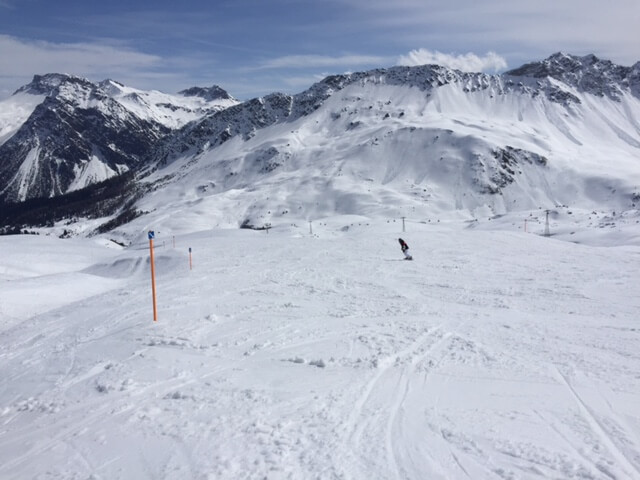 Out on the ski slopes in Arosa