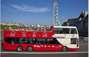 Open top bus ride London