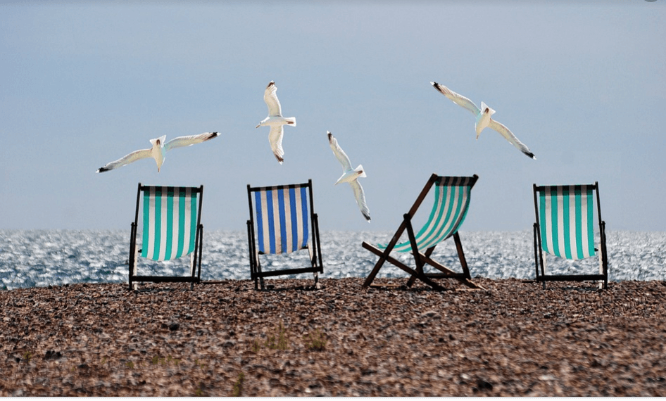 Deckchairs by the sea