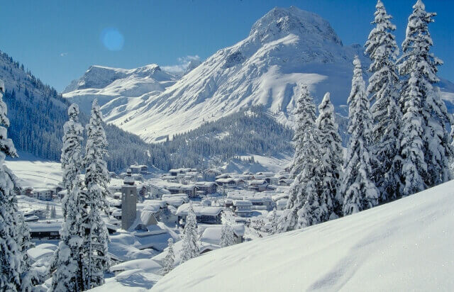 Austria in the snow