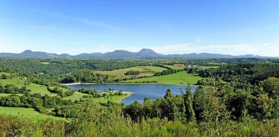 A view of the Auvergne region