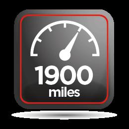 1900 miles