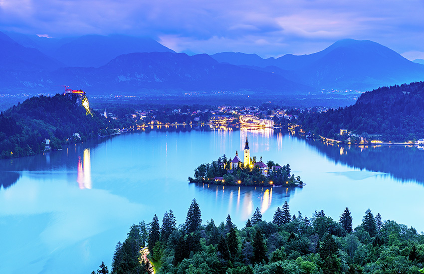 Hire a motorhome and discover Bled