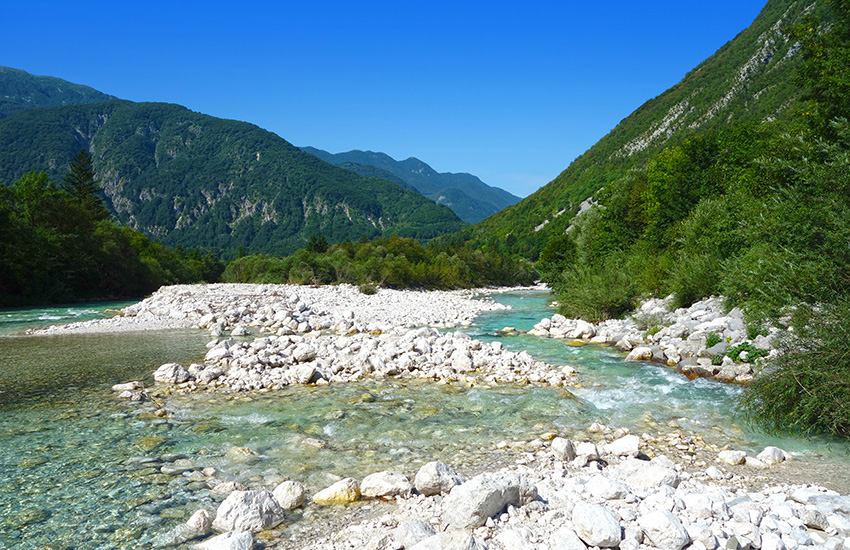 Hire a motorhome and discover the The Soca Valley