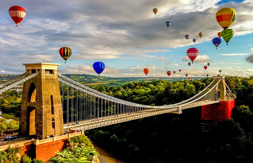 The balloon fiesta is a popular motorhome destination in Bristol