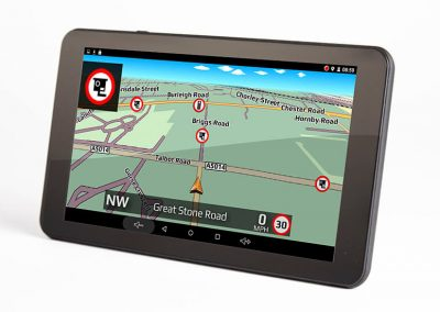 DVR SAT NAV facing left with shadow gatso