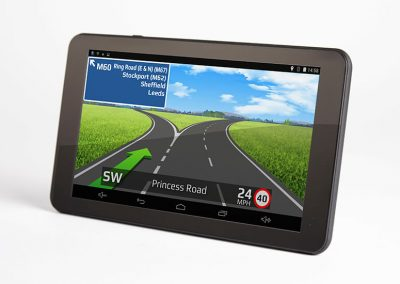 RV720 DVR SAT NAV facing left junction view